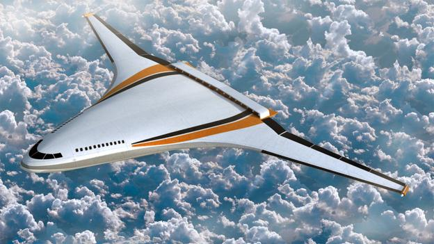 Flying wings and hybrid-wing body planes, such as Nasa's N3-X, produces lift with their entire airframe, cutting drag and reducing fuel use.